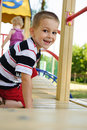Happy boy at playground Royalty Free Stock Photo