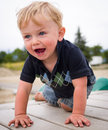 Happy boy at playground Royalty Free Stock Images