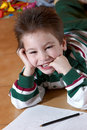 Happy boy of preschool age Royalty Free Stock Photo