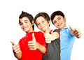 Happy boys teenagers,  best friends fun Royalty Free Stock Photo