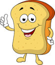 Happy bread cartoon character Royalty Free Stock Photography