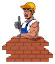 Happy bricklayer Royalty Free Stock Photo