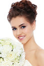 Happy bride Stock Images