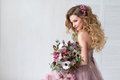 Happy Bride. Fashion Royalty Free Stock Photo