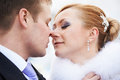 Happy bride and groom on wedding day Stock Photography