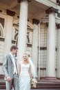 Happy bride and groom in wedding day this image has attached release Royalty Free Stock Photography