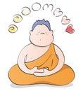 Happy Buddha meditating Royalty Free Stock Photo