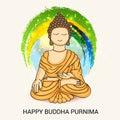 Happy Buddha Purnima. Royalty Free Stock Photo