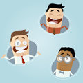 Happy business cartoon men illustration of Stock Images