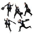 Happy business man jump Royalty Free Stock Photo