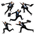 Happy business man jump Royalty Free Stock Photo