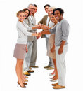 Happy business people shaking hands-isolated Royalty Free Stock Image