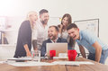 Happy business people team together have fun in office Royalty Free Stock Photo