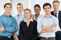 Happy business teamwork group of successful multi ethnic businesspeople standing together Stock Photography