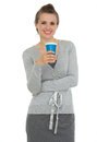 Happy business woman with cup of coffee Stock Photos