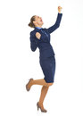 Happy business woman rejoicing success Royalty Free Stock Photo