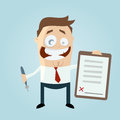 Happy businessman with a contract illustration of Royalty Free Stock Photo