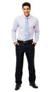 Happy Businessman With Hands In Pockets Royalty Free Stock Photo