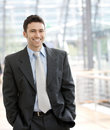 Happy businessman smiling Royalty Free Stock Image