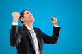 Happy businessman young successful celebrating su thumb Stock Image