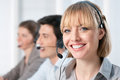 Happy call center operators Royalty Free Stock Photos
