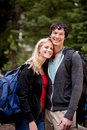 Happy Camping Couple Royalty Free Stock Photo