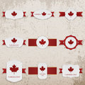 Happy Canada Day paper Banners with greeting Text