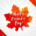 Happy Canada Day vector greetings.