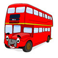 Happy cartoon bus Royalty Free Stock Photo