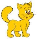 Happy cartoon cat Stock Photos