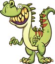 Happy cartoon dinosaur with toothy smile Royalty Free Stock Photo
