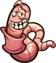 Happy cartoon earthworm Royalty Free Stock Photo