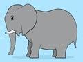 Happy cartoon elephant adult Royalty Free Stock Photo