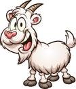 Happy white haired cartoon goat Royalty Free Stock Photo