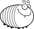 Happy cartoon grub a illustration of a looking Royalty Free Stock Image
