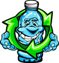 Happy Cartoon Plastic Water Bottle Stock Images