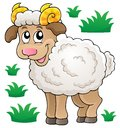Happy cartoon ram eps vector illustration Royalty Free Stock Photos