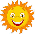 Happy cartoon sun Royalty Free Stock Photo