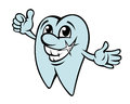 Happy cartoon tooth Stock Images