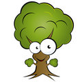 Happy cartoon tree Stock Images