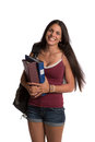 Happy Casual Dressed Young Female College Student Royalty Free Stock Photo