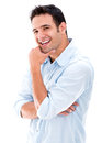 Happy casual man Royalty Free Stock Photo