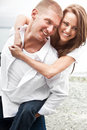 Happy caucasian couple Royalty Free Stock Photo