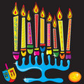 Happy Chanukah Menorah Royalty Free Stock Images
