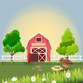 Happy and cheerful farm animals
