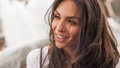 Happy Cheerful Smiling Woman E...
