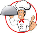 Happy chef illustration of cartoon isolated Stock Images