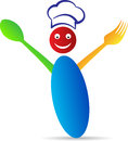 Happy chef a vector drawing represents design Stock Photo
