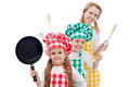 Happy chefs family Royalty Free Stock Photo