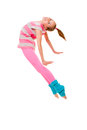 Happy child jumping smiling ballet dancing Royalty Free Stock Photos